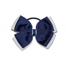 Hair Bobble - Navy Blue & White