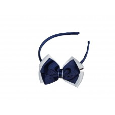 Headband - Navy Blue & White