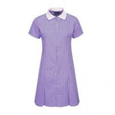Dress A-Line Gingham - Purple