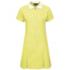 Gingham Dress A- Line- Yellow