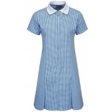 Dress A-Line Gingham - Sky Blue