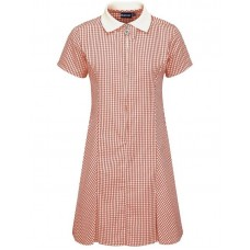 Gingham Dress A-Line - Red