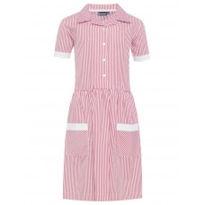 Dress Striped - Red