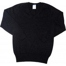 V - Neck Jumper - Black