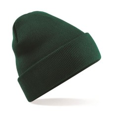 Knitted Beanie Hat Bottle Green