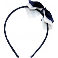 Headband - Navy Blue And White