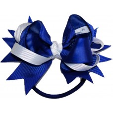 Hair Bobble - Royal Blue And White