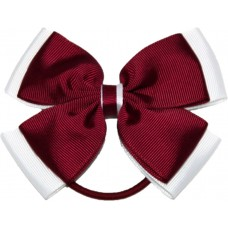 Hair Bobble - Maroon And White