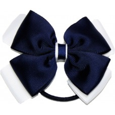 Hair Bobble - Navy Blue And White
