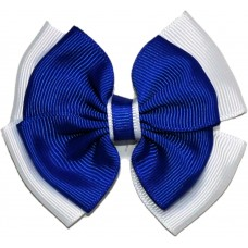 Hair Clip - Royal Blue And White