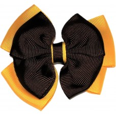 Hair Clip - Brown And Gold