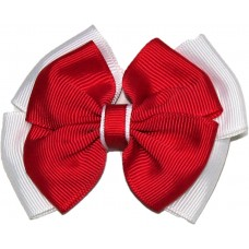 Hair Clip - Red And White