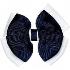 Hair Clip - Navy Blue And White