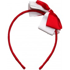 Headband - Red And White