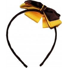 Headband - Brown And Gold