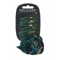 Bow, Clips & Bobble - Bottle Green
