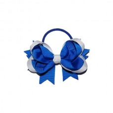 Hair Bobble - Royal Blue & White