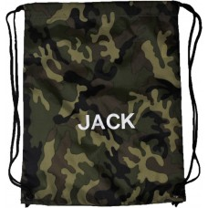 Personalised Camoflage Embroidered Gymsac
