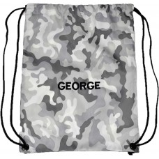 Personalised Artic Camo Embroidered Gymsac