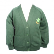 School Embroidered Cardigan