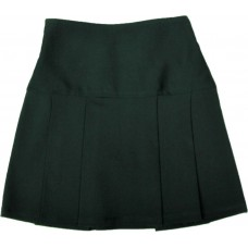 Drop Waist Pleated Skirt - Bottle Green