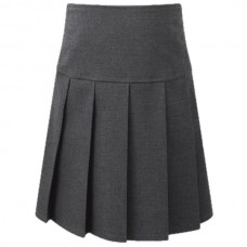 Deep Waist Pleated Skirt - Grey