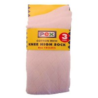 Diamond Knee High Socks 3 pair pack - White Socks
