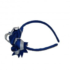 Headband - Royal Blue & White