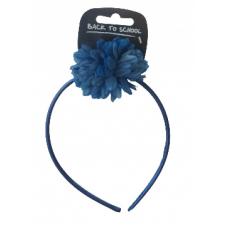 Flower Bobble & Band - Navy Blue