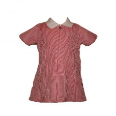 Girls Zip Front Summer Dress - Red
