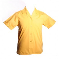 Girls Short Sleeve Rever Collar Blouses - Twin Pack - Gold