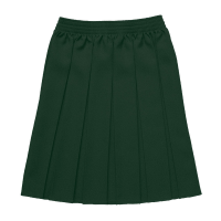 Girls Box Pleat Skirt - Bottle Skirts
