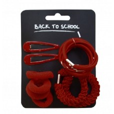 Hair Accessories Set - Maroon