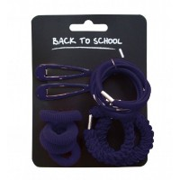 Hair Accessories Set - Navy Blue