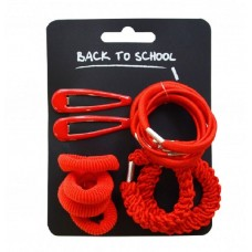Hair Accessories Set - Red