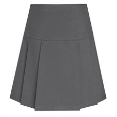 Drop Waist Pleated Skirt - Grey