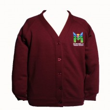School Embroidered Sweat Cardigan