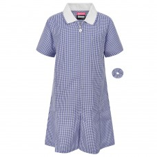Dress Gingham - Navy Blue