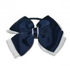 Opal  Hair Bobble Navy Blue & White