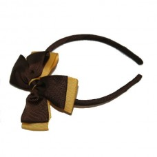 Headband - Brown & Gold