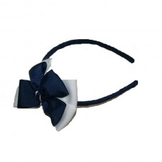 Opal Headband Navy Blue & White