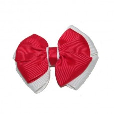 Hair Clip - Red & White