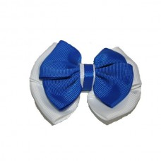Hair Clip - Royal Blue & White