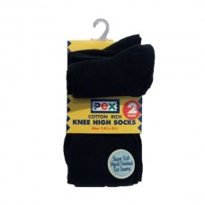 Socks Knee High 2 Pair Pack - Navy Blue