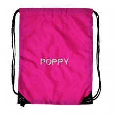 Personalised Fuschia Embroidered Gymsac