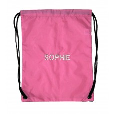 Personalised Pink Embroidered Gymsac
