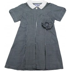 Gingham Dress - Bottle Green