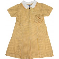 Gingham dress - Yellow