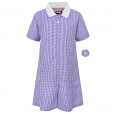 Dress Gingham - Purple