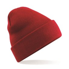 Knitted Beanie Hat Red